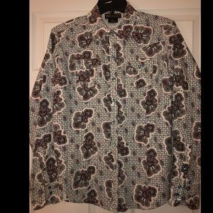 Ariat paisley turquoise detailed western shirt